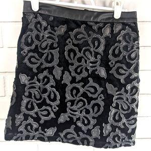 Forever 21 Skirt Womens Small Black Mini Velvet